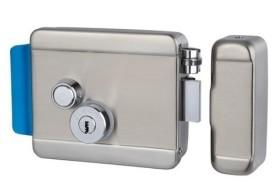 AT-EL101 Электромеханический замок , накладной, универсальный (дверь наружу, внутрь), ролик взвода пружины, блокировка ключом в закрытом состоянии, нержавеющая сталь, 12В.
