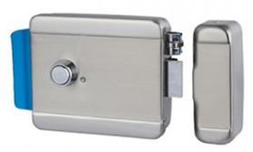 AT-EL101A Электромеханический замок, накладной, универсальный (дверь наружу, внутрь), ролик взвода пружины, нержавеющая сталь, 12В.