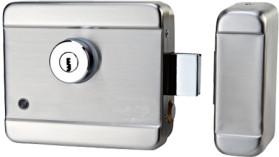 AT-EL201A Электромеханический замок моторного типа, накладной, универсальный (дверь наружу, внутрь) нержавеющая сталь, 12В.