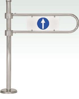 К11К пр.ХРОМ,К11К лв.ХРОМ-Калитка механическая с механическим доводчиком.(без учета дуги)