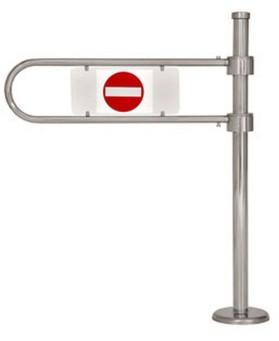ОК61 ХРОМ-Калитка механическая с механическим доводчиком.(без учета дуги)