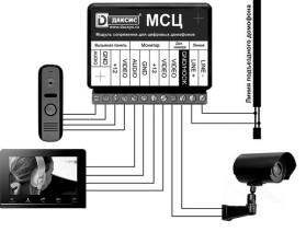 МСЦ Модуль сопряжения индивидуального видеодомофона с общеподъездным многоквартирным домофоном