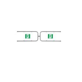 PERCo-BH02 1-19 Комплект створок для двойной распашной секции ограждения с магнитным устройством блокировки, ширина прохода 2400мм.