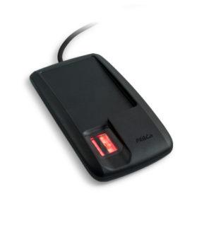 PERCo-IR18 Биометрический контрольный считыватель со встроенным сканером отпечатков пальцев и RFID-считывателем карт доступа, интерфейс связи - USB