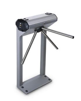 PERCo-KT02.9B Электронная проходная со встроенными сканерами отпечатков пальцев.